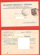 Venezia San Canciano Calle Maggioni Cartolina Commerciale Per Valdagno 1927 - Trade