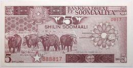 Somalie - 5 Shillings - 1987 - PICK 31c - NEUF - Somalia