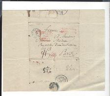 WARSZAWA  BERLIN  Prusse Par Givet   Pour Paris 1827 - Poland