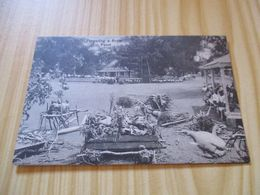 Rare CPA Tonga - Preparing A Royal Feast. - Tonga