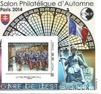 Feuillet Souvenir De La CNEP Le Salon Du Philatélique D'Automne à Paris N° 67 Le Départ Des Poilus - Sonstige