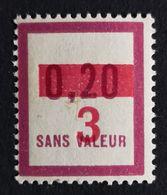 France Fictif N° F63 N** Luxe Gomme D'origine, TTB. Cote 2020 : 3 €. Voir Photos Recto Verso ! - Fictifs