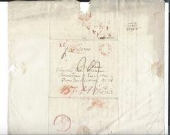 WARSZAWA  Cachet  Prusse Par Givet   Pour Paris 1828 - Poland