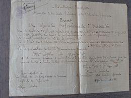Limeil Brevannes - Brevet D'infirmière Fait En 1938 ... Lot140 . - Ohne Zuordnung