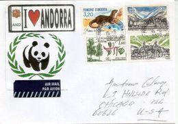 ANDORRE. La Faune En Andorre, Belle Lettre Adressée USA - Brieven En Documenten