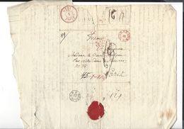 WARSZAWA  Cachet    Pour Paris 1830 - Poland