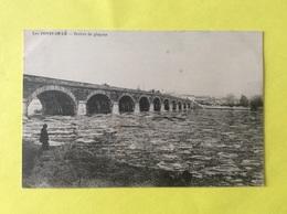Les Ponts De Cè , Avec La Dérive Des Glaçons Pont Dumnacus  Carte Rarissime - Les Ponts De Ce
