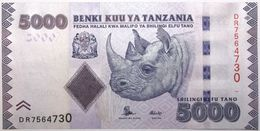 Tanzanie - 5000 Shilingi - 2015 - PICK 43b - NEUF - Tanzanie