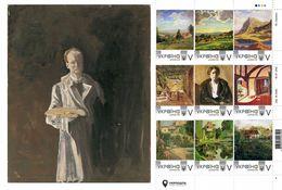 Ukraine 2020, England Painter Winston Churchill, Art, Sheetlet Of 9v - Ukraine