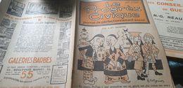 PROGRES CIVIQUE/ CHINE GRANDE BRETAGNE HENRI MONIER /POINCARE AURIOL SARRAUT ECRAN POLITIQUE GUILAC  / - 1900 - 1949