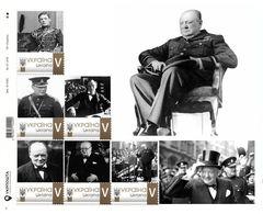 Ukraine 2020, England Politician Winston Churchill, Sheetlet Of 6v - Ukraine
