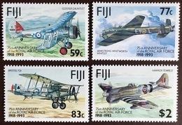 Fiji 1993 Royal Air Force Anniversary Aircraft Aviation MNH - Fiji (1970-...)