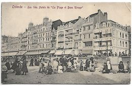 Oostende     Les Gds Hotels De La Plage  Et Beau Rivage - Oostende