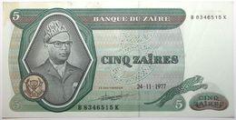 Zaïre - 5 Zaïres - 1977 - PICK 21b - TTB+ - Zaire