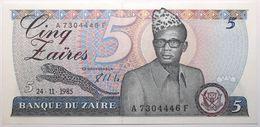 Zaïre - 5 Zaïres - 1985 - PICK 26 A - NEUF - Zaire