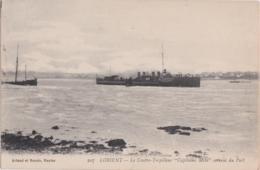 """Bv - Cpa LORIENT - Le Contre Torpilleur """"Capitaine Mehl"""" Sortant Du Port - Lorient"""