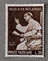 1965 - VATICANO - VISITA DI PAOLO VI  ALL'O.N.U. -  VALORE DI LIRE 20 - SINGOLO - USATO - Oblitérés