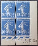 R1306/35 - 1934 - TYPE SEMEUSE FOND PLEIN - BLOC N°279 NEUF** CdF Daté 3.12.34 - 1930-1939