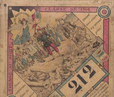 CLASSE DE 1900 , Le Tirage Au Sort  / CARTON DE 25X25  ( état Moyen)  ///  Ref.  Juin   20 - Patriotic