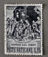 1959 - VATICANO - NATALE  -  VALORE DI LIRE 15  - SINGOLO - USATO - Oblitérés