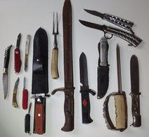 Lot Couteaux Divers + Epave Baionnette Allemande 98/05 Ww1 - Armas Blancas