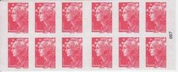 Marianne De Beaujard, TVP Rouge Carnet De 10 TP N° 4197-C19 (Abonnement Aux Carnets Gommés De France), Neuf ** - Usage Courant