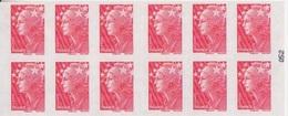 Marianne De Beaujard, TVP Rouge Carnet De 10 TP N° 4197-C23 (Réservation Des Timbres D'Andorre), Neuf ** - Usage Courant