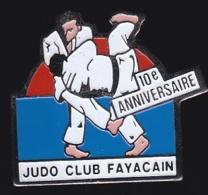 65550-Pin's-Judo Club Fayacain .Ste Honorine Du Fay - Judo