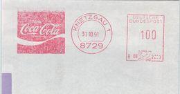 8729 Knetzgau 30.10.1991 Trink Coca-Cola Schutzmarke - Affrancature Meccaniche Rosse (EMA)