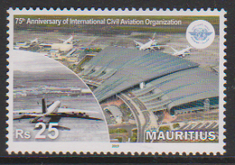 MAURITIUS, 2019, MNH, ICAO, PLANES, AIRPORTS, 1v - Airplanes