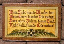 Militaria 2. Weltkrieg Wandbild Auf Holz Grösse: 22 X 14 Cm - 1939-45