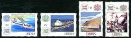Liberia 1988 Lloyd Insurances 300 Years Assurances 300 Ans Britten-Norman Islander Lakonia 1963 - Non Classificati