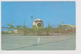 Vintage Rppc Tarom Romanian Air Transport Ilyushin-IL-18 Aircraft @ Airport - 1919-1938: Between Wars