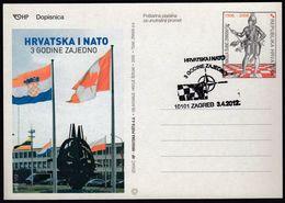 Croatia Zagreb 2012 / Croatia And NATO 3 Years Together / Coat Of Arms, Flags - OTAN