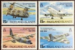 Falklands Islands 1993 RAF Air Force Anniversary Aircraft MNH - Falkland Islands
