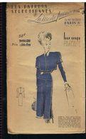 Mode Robe De Fin Lainage Orné D'un Boléro Détachable Les Patrons Sélectionnés De La Mode Parisienne Année 1930 - Patrons