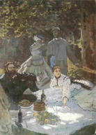 Art - Peinture - Claude Monet - Le Déjeuner Sur L'herbe - CPM - Voir Scans Recto-Verso - Peintures & Tableaux
