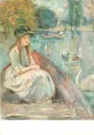 Art - Peinture - Claude Monet - Jeanne Fourmanoir Sur Le Lac, 1892 - CPM - Voir Scans Recto-Verso - Peintures & Tableaux