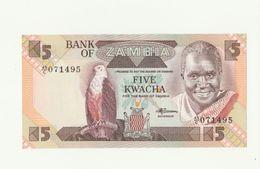 Banconota Nuova Non Circolata BANK OF ZAMBIA 5 FIVE KWACHA - AFRICA - Zambie