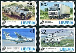 Liberia 1994 Casques Bleus Blue Helmets 50 Years Mil Mi-8 Hip Iliouchine Il-78 Candid Land Rover Camion Lourd - UNO