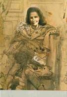 Art - Peinture - Portrait De Gala. Hallucination En Profitant De Taches Sur Un Morceau De Papier - CPM - Voir Scans Rect - Peintures & Tableaux