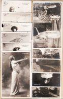 Art069 Peu Commun Série Assortie 11 CPA SARAH BERNHARDT La SORCIERE Toutes ( Scannées) Affranchies 16.08.1904 - Artistes
