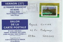 Vernon(27):salon De La CP. - Marcophilie (Lettres)