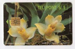 PEROU TELECARTE TELEPOINT 5 Soles Fleur - Peru