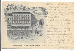 HEYST SUR MER  Hotel De Bruges Et Des Flandres  Litho - Heist