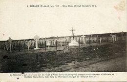 Guerre 14 18 THELUS PAS DE CALAIS CIMETIERE CANADIEN NINE ELMS BRITISH CIMETERY 51B - France