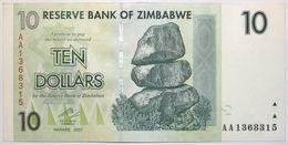 Zimbabwe - 10 Dollars - 2007 - PICK 67 - NEUF - Zimbabwe