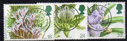 APR2055 - GRAN BRETAGNA 1993, Unificato 18p+24p+33p Usato N. 1663+1664+1666 (2380A) Orchidee - 1952-.... (Elizabeth II)