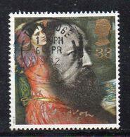 APR2070 - GRAN BRETAGNA 1992, Unificato 33p Usato N. 1611 (2380A) Tennyson - 1952-.... (Elizabeth II)
