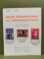 Feuillet Souvenir, Salon International De L'aéronautique 1947 - Cartes Souvenir